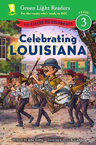 Celebrating Louisiana: 50 States to Celebrate (Green Light Readers Level 3) (English Edition)