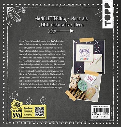 Handlettering. Das große Buch der Schmuckelemente: 1000 Ideen - 2