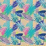 ABAKUHAUS Tropisch Stoff als Meterware, Exotische Hawaii