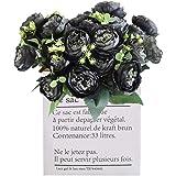 QAQGEAR Artificiell pion siden falska blommor vintage bröllop heminredning, samling tyg blommor siden pomander bröllop fest h