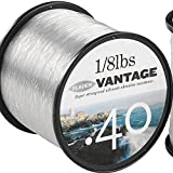 FLADEN VANTAGE PRO Bulk 1/8lb Spools of Monofilament Sea Fishing Line (CLEAR) - comes in 3, 5, 7, 10, 12, 14, 18, 23, 28, 35 and 55lbs (5lbs - 1591m - 0.20mm)[13-355-5]