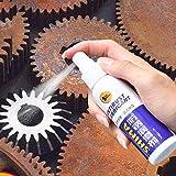 Rimozione sicura della ruggine per auto, pulizia del blocco della ruggine Non tossico Dissolver Ruggine Spray a sbattimento rapido Ruggine Smacchiatore per superficie metallica Vernice cromata (100ML)