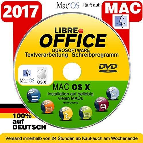 Libre OFFICE 2017 PREMIUM für MAC OSX Schreibprogramm [auf DVD Datenträger] ORIGINAL...