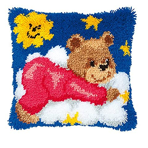 Groves + Banks PN-0014185 Kit de Coussin Crochet Loquet Ourson Toile Multicolore 40 x 28 x 20 cm