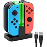 Charging Dock Compatible with Joy Con Charger for Switch & OLED Model Version, FYOUNG 4 in 1 Switch Controller Charging Stand