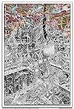 """Wildergorn Posters à Colorier de Jamie Courtier - """"Watergorn"""" - affiche à colorier GEANTE 68cm x 100cm"""