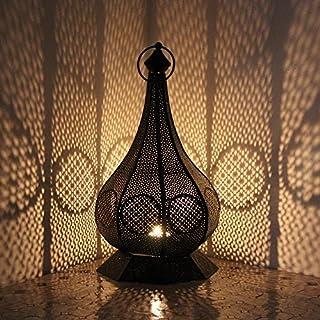 albena shop 73-117 Hudi oriental lantern metal size L 39cm black / gold
