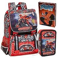 Spiderman, Set de Sac scolaire multicolore multicolore
