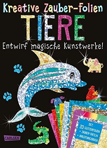 Kreative Zauber-Folien: Tiere: Set mit 10 Zaubertafeln, 20 Folien und Anleitungsbuch