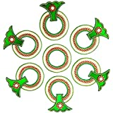 SM Craft Creations Acrylic Kundan Rangoli (Green, 40cm X 40cm)