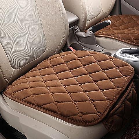 Sedeta 3PCS Silk Velvet Automotive Interior Car Vehicle Front Rear Seat Protecteur Set Cushion Mat Decor pour bébé Housse de coussin de siège auto Coussin de housses pour sièges de voiture Housses de