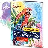 HOCHWERTIGES Aquarellpapier A3 / 300g / Weiß / 35 Blatt | A3 Aquarellblock | XXL von Tritart