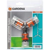 Gardena Abzweig-Satz für 13 mm (1/2 Zoll)- und 15 mm (5/8 Zoll)-Wasserschläuche: Wasserdichter Abzweig-Verbinder für…