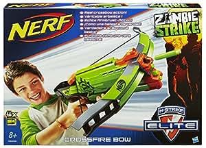 Hasbro Nerf A6558E24 - Zombie Strike Crossfire Bogen, Spielzeugblaster
