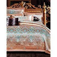 ZQ 100% cotone set copertura confortevole lusso jacquard floreali piumone,
