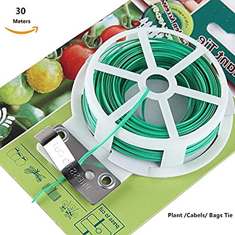 Câble pour plantes 30M,Cravate de jardin Organisateur des plantes désordonnées