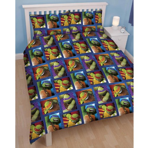 Teenage Mutant Ninja Turtles 'Dudes' Double Duvet and Pillowcase Set