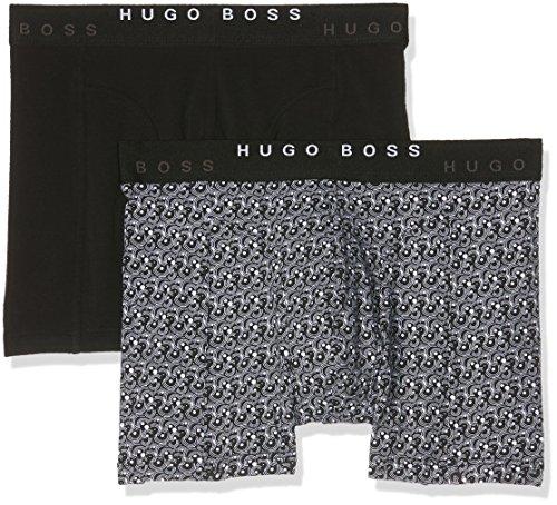 BOSS Hugo Boss Herren Boxershorts Boxer Brief 2p Print Grau (Open Grey 060)
