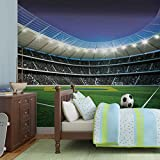 Fußball Stadion Sport- Forwall - Fototapete - Tapete - Fotomural - Mural Wandbild - (1914WM) - XXL - 368cm x 254cm - Papier (KEIN VLIES) - 4 Pieces
