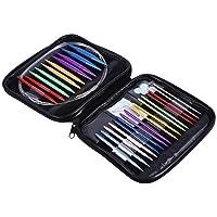 Yosoo Kit De 13 Paires Aiguilles À Tricoter Circulaires Interchangeables Aiguille Kit De 2,75mm-10mm avec Étui