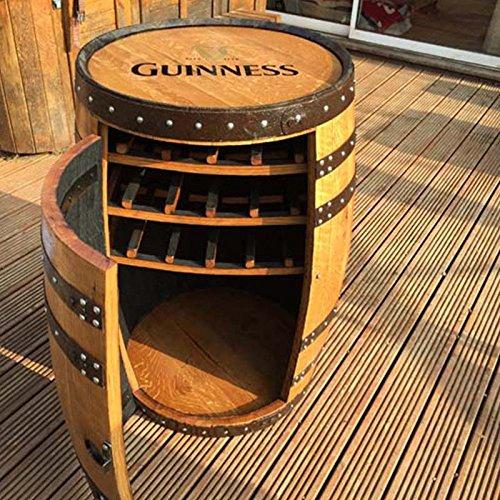 Botte di whisky portabottiglie 'Balmoral', per vino, in legno massello di quercia