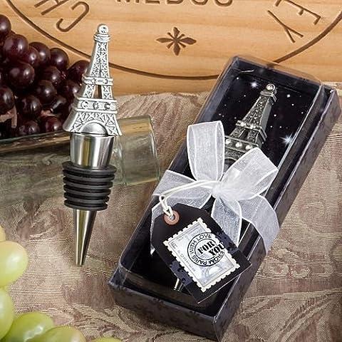Set di 6 From Paris With Love Torre Eiffel vino / champagne del tappo della bottiglia Bomboniere