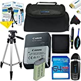 "I3ePro Advanced Accessory Kit With I3ePro 64GB SD Card + I3ePro BC2 Carry Case + BP-TR50 I3ePro 50"" Tripod And More For Canon PowerShot SX720 HS Digital Camera"