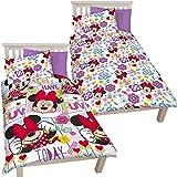 Disney Minnie Mouse Floral Reversible Single Duvet Cover Bedding Set