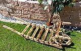 Große Offene 60 cm Holz-Schubkarre, Kleine Schubkarren 60 cm mit Holz - Deko HSOF-60-GEFLAMMT Holzlager, Holz, gebrannt geflammt schwarz-natur Deko für aus - Pflanzgefäß, Pflanztöpfe