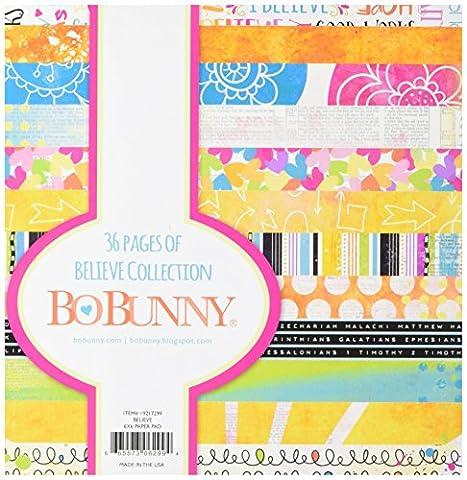 BoBunny BoBunny Papier Pad 15x 6-inch-believe, d'autres, multicolore