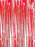 Oblique Unique® Lametta Vorhang 92x245 cm (Rot)