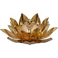 DreamKraft Brass Lotus Kuber Diya for Gift & Home Decor-5 Inch