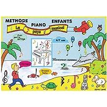 """METHODE PIANO ENFANTS avec partie solfège - """"Le pays musical"""" - 4/7 ans"""