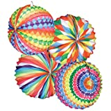 PARTY DISCOUNT ® Lampion Bunter Ballon, rund, Ø 22 cm, SPAR-PACK mit 12 Stück