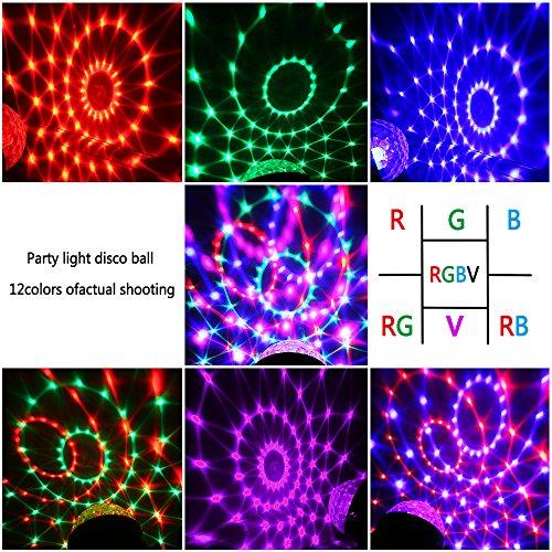 ad3a7ead3 InnooLight Bola Discoteca 12 Colores RGBV LED Mini Luces Fiesta ...