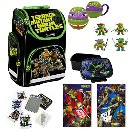 Starpak Nickelodeon TMNT Ninja Turtles Schulranzen Set - 7 ()