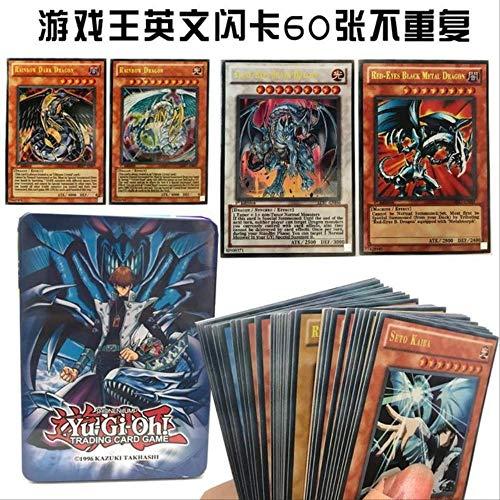SYYSYY Yu-Gi-Oh oh -Struktur Deck-60pcs / Set Englisch Yugioh Karte mit schönen Metallbox Sammlung Karte Yu Gi Oh Spiel Papier Karte hellgrau (Spiele Yugioh Karten)
