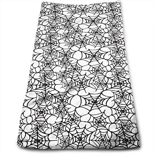 QuGujun royal Velvet Towels Seamless Spider Web Super Soft Absorbent Sports/Beach/Shower/Pool Towel -