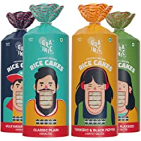 GRAINIC Organic Rice Cakes I Assorted Saver Pack I Biggest Pack I Vegan, All Natural, Gluten Free (4X 135 g) (Pack of 4)