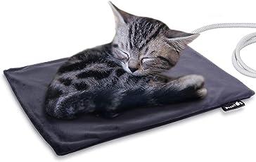 Pecute Hundematte Heizmatte für Hund Katze Wärmematte Konstante Temperatur 20 Watt Heizdecke mit Abnehmbarer Wasserdichter Abdeckung