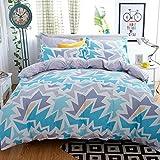 #7: Ahmedabad Cotton Premium Cotton Comforter with Mircofibre filling, Double Size, 200 GSM - Blue, Grey