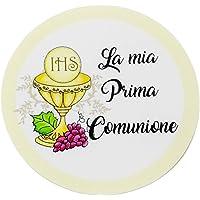 20 pezzi Adesivi tondi Prima Comunione, 40 millimetri, etichette cresima, thank you stickers, grazie, festa, tondo…