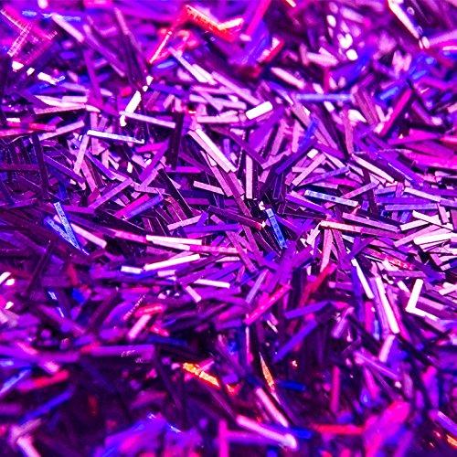 Große 100g sfxc® Violett Holografische geschoben Shard für Kunst und Handwerk