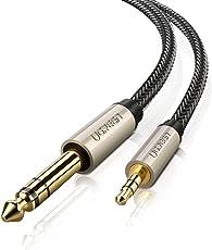 UGREEN 3.5 mm Aux Audio Kilnkenkabel auf 6.35mm Klinkenstecker Auxiliary Stereo Unterstützt für iPod, Laptop, Heimkino-Geräte, Gitarre, elektronisches Klavier, Mikrofon, Bassverstärker und Lautsprecher , HiFi Anlage 3m, Schwarz