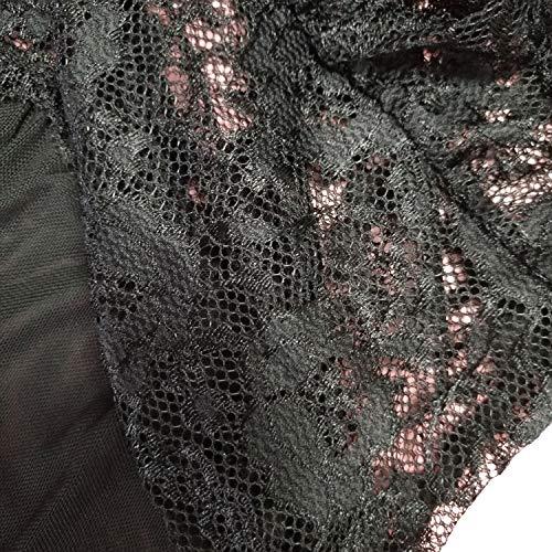 Kinsmirat Damen Reizwäsche übergröße Negligee V-Ausschnitt Overall Nachtwäsche