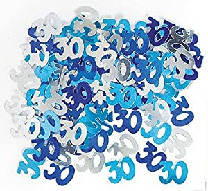 "Gifts 4 All Occasions Limited SHATCHI-162 - Confeti para decoración de mesa, diseño de confeti con texto""Happy Birthday"", color azul"