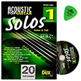 acoustic pop guitar solos band 1 chansons pour guitare solo arrangiert auteur michael longue notes a tab avec cd et dunlop plek