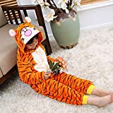 FTYUNWE Bambini Pigiami Animali Donna Uomo Costume Carnevale Halloween Cosplay Tigre Party Zoo Onesies Tuta Anime per Ragazzo Ragazza,Kids-XXL