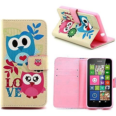 Cover per Nokia Microsoft Lumia 535, serie Girls Boys Elecday, design a portafoglio, in pelle sintetica ibrida con aletta, tasca per denaro/carte di credito] 1 Lumia535