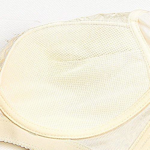Longless Grande tazza sottile coppa del reggiseno riunito senza anello d'acciaio della biancheria reggiseno registrabile del seno D
